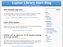 Lupton Library Alert Blog